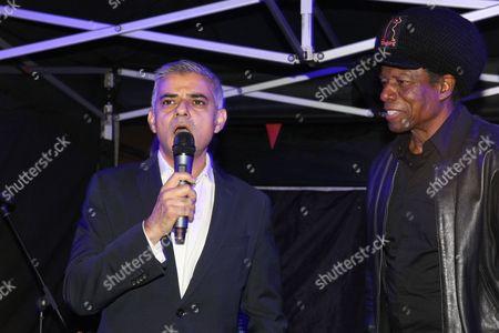 The Mayor of London, Sadiq Khan and Eddy Grant