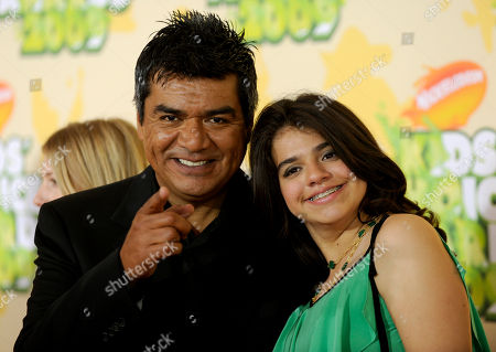 George Lopez; Mayan Lopez Actor George Lopez and his daughter Mayan arrive at the the 22nd Annual Kids' Choice Awards, in Los Angeles