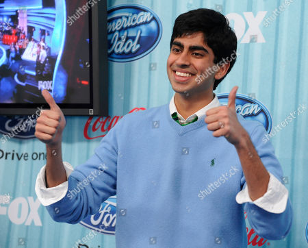 "Anoop Desai American Idol"" finalist Anoop Desai arrives at the American Idol Top 13 Party in Los Angeles"