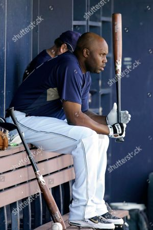 Cliff Floyd San Diego Padres' Cliff Floyd sits in the dugout during a spring training baseball game against the Oakland Athletics in Peoria, Ariz