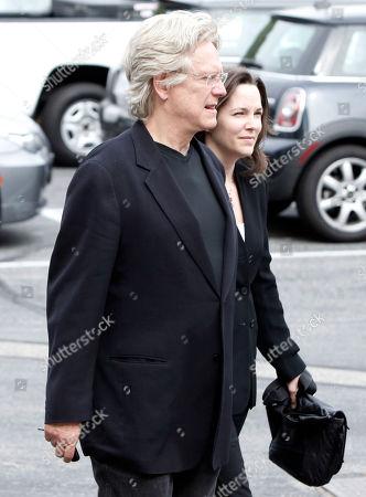 Bruce Davison, Michele Correy Bruce Davison, left, and Michele Correy arrive at the funeral of David Carradine, in Los Angeles