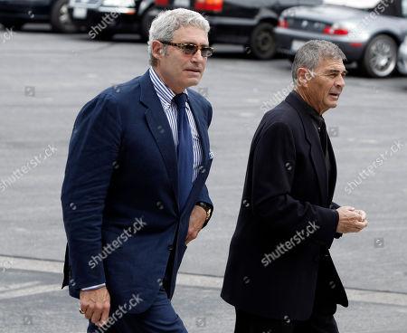 Michael Nouri, Robert Forster Actors Michael Nouri, left, and Robert Forster arrive at the funeral of David Carradine, in Los Angeles