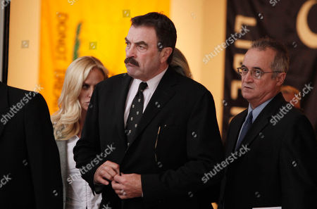 Stock Image of Tom Selleck Actor Tom Selleck leaves the funeral of David Carradine, in Los Angeles