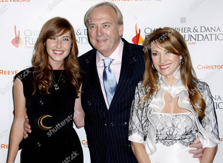 Jane Seymour, James Keach, Katie Flynn Actress Jane Seymour, right, James Keach, center, and Katie Flynn pose together at the 4th Annual Christopher and Dana Reeve Foundation Gala in Beverly Hills, Calif. on