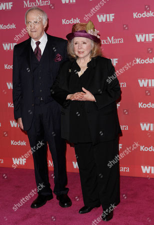 Piper Laurie Actress Piper Laurie, right, and unidentified guest arrive at the Women in Film Crystal Lucy Awards, in Los Angeles