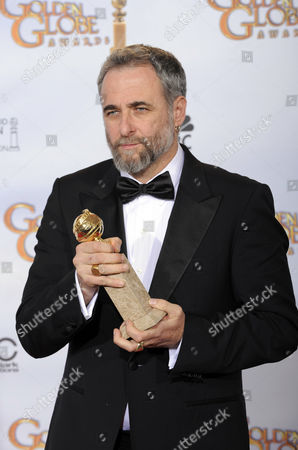 """Ari Folman Director Ari Folman poses with the foreign language film award for the Israeli film """"Waltz with Bashir"""" backstage at the 66th Annual Golden Globe Awards, in Beverly Hills, Calif"""