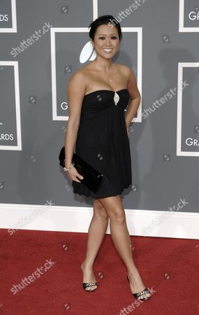 Kathryn Le Kathryn Le arrives at the 51st Annual Grammy Awards, in Los Angeles