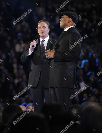 Jay Mohr, LL Cool J Jay Mohr, left, and LL Cool J on stage at the 51st Annual Grammy Awards, in Los Angeles
