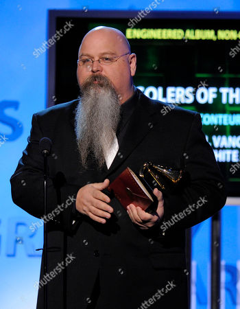 """Vance Powell Engineer Vance Powell accepts the best engineered album, non-classical award for """"Consolers Of The Lonely"""" at the 51st Annual Grammy Awards, in Los Angeles"""