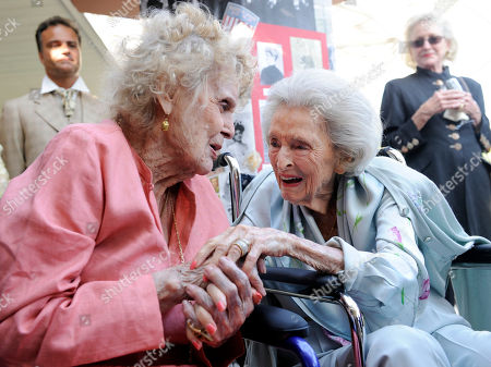 Gloria Stuart, Dolores Hope Actress Gloria Stuart, left, greets Dolores Hope during Hope's 100th birthday party in Los Angeles