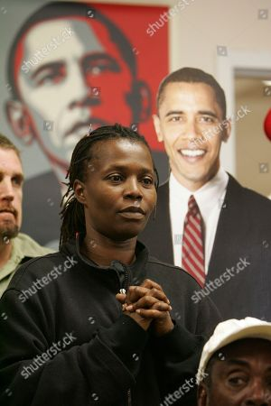 Stock Photo of Cynthia Green Cynthia Green, a homeless woman, watches the Barack Obama's inauguration from the Lord's Place homeless shelter in West Palm Beach, Fla