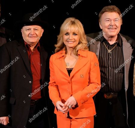 Barbara Mandrell, Roy Clark, Charlie McCoy Charlie McCoy, left, Barbara Mandrell and Roy Clark, right, are shown during the announcement that they have been voted into the Country Music Hall of Fame in Nashville, Tenn