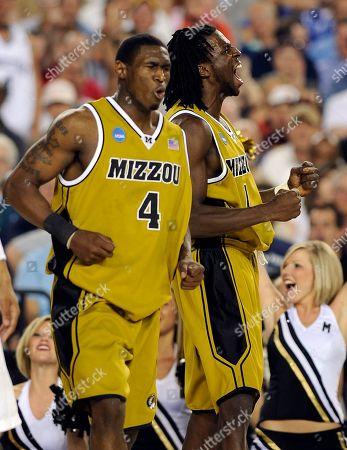 J.T. Tiller, DeMarre Carroll Missouri's J.T. Tiller, left, and DeMarre Carroll celebrate during the first half of a men's NCAA college basketball tournament regional semifinal against Memphis in Glendale, Ariz., . Missouri won 102-91