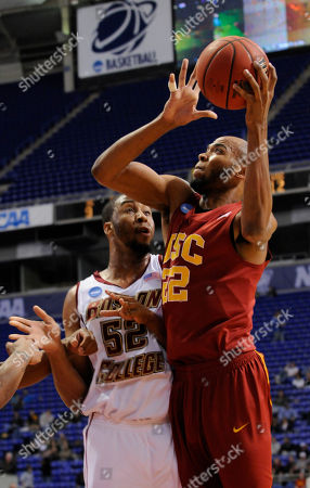 Taj Gibson, Josh Southern Southern California's Taj Gibson (22) grabs a rebound in front of Boston College's Josh Southern (52) during a first-round men's NCAA college basketball tournament game, in Minneapolis