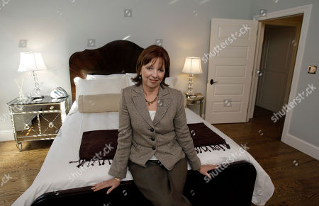 Stock Picture of Nora Roberts Romance novelist Nora Roberts poses in a one of the literary-themed rooms at the newly renovated hotel she is opening, in Boonsboro, Md