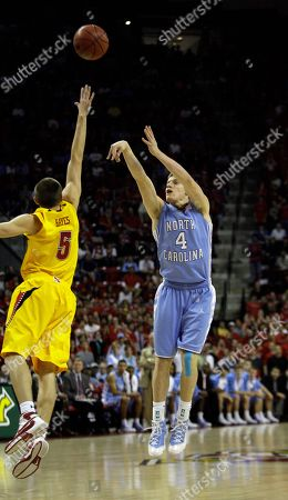 Bobby Frasor, Eric Hayes North Carolina guard Bobby Frasor (4) puts up a shot over Maryland guard Eric Hayes (5) during the first half of an NCAA college basketball game, in College Park, Md