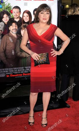 "Stock Picture of Elizabeth Pena Elizabeth Pena poses as she arrives for the Los Angeles premiere of ""Nothing Like the Holidays,"" in Los Angeles. The ""La Bamba"" and ""Lone Star"" actress Pena, 55, has died. Pena's manager, Gina Rugolo, said the actress died, in Los Angeles of natural causes after a brief illness"