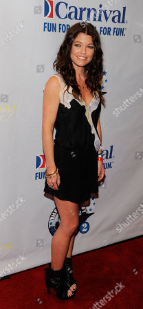 """Stock Picture of Erin McCarley Erin McCarley arrives for the concert event """"One Splendid Evening,"""" onboard the cruise ship Carnival Splendor in Los Angeles"""