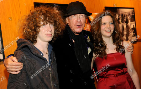 """Henry Jaglom, Simon Jaglom, Sabrina Jaglom Henry Jaglom, center, writer and director of """"Irene in Time,"""" poses with his son Simon and daughter Sabrina at the premiere of the film in Los Angeles"""