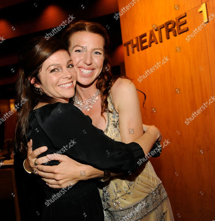 "Stock Image of Kelly De Sarla, Tanna Frederick Irene in Time"" cast members Kelly De Sarla, left, and Tanna Frederick pose together at the premiere of the film in Los Angeles"