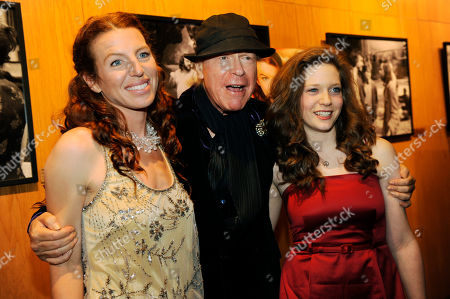"""Henry Jaglom, Tanna Frederick, Sabrina Jaglom Henry Jaglom, center, writer and director of """"Irene in Time,"""" poses with cast members Tanna Frederick, left, and Jaglom's daughter Sabrina at the premiere of the film in Los Angeles"""