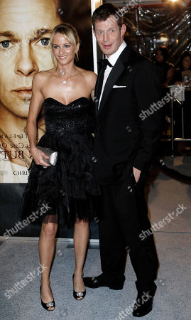 """Jason Flemyng, Elly Fairman Jason Flemyng, right, and Elly Fairman arrive at the premiere of """"The Curious Case of Benjamin Button"""" in Los Angeles on"""