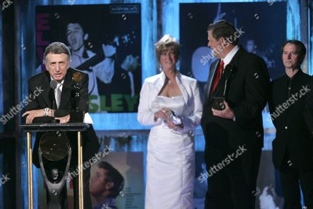 D.J. Fontana, Nancy Shockley, Lewis Black, Max Weinberg, Garry Tallent D.J. Fontana speaks with Bill Black's daugher Nancy Shockley and son Lewis Black at the 2009 Rock and Roll Hall of Fame Induction Ceremony in Cleveland. From right are Max Weinberg and Garry Tallent