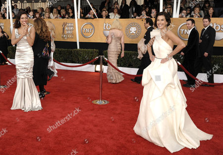 Rosario Dawson, Terri Hatcher Terri Hatcher, right, and Rosario Dawson arrive at the 15th Annual Screen Actors Guild Awards, in Los Angeles