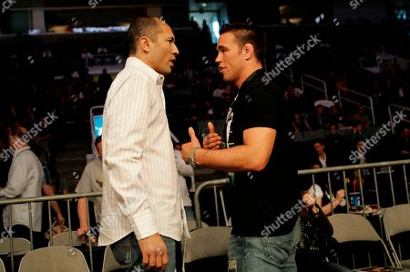 Royce Gracie, Jake Shields Royce Gracie, left, and Jake Shields at a Strikeforce mixed martial arts event, in San Jose, Calif