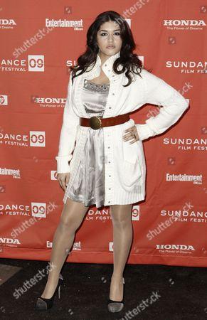 "Stephanie Andujar Actress Stephanie Andujar arrives at the premiere of ""Push"" during the Sundance Film Festival in Park City, Utah on"