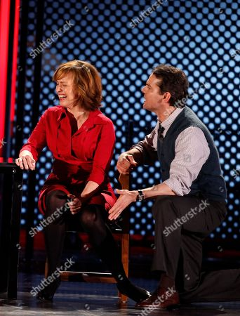 """Aaron Tveit, Alice Ripley, J. Robert Spencer Alice Ripley, left, and J. Robert Spencer perform a number from """"Next To Normal,"""" at the 63rd annual Tony Awards in New York"""
