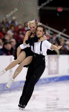 Kellene Ratko and Jonathan Harris Kellene Ratko and Jonathan Harris perform during the original dance competition at the U.S. Figure Skating Championships in Cleveland