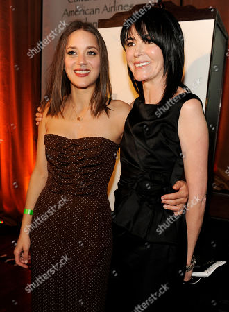 Marion Cotillard, Hylda Queally Actress Marion Cotillard, left, poses with her agent Hylda Queally at the US-Ireland Alliance pre-Academy Awards event in Los Angeles