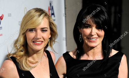 Kate Winslet, Hylda Queally Actress Kate Winslet, left, and her agent Hylda Queally pose together at the US-Ireland Alliance pre-Academy Awards event in Los Angeles