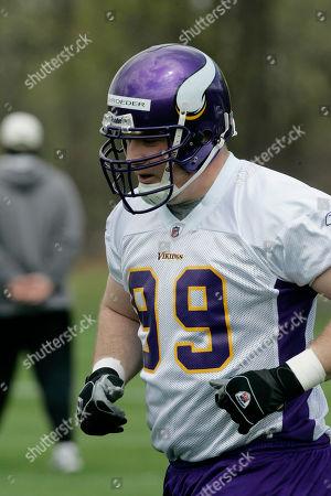 Nick Walker Tight end Nick Walker is shown at the Minnesota Vikings football rookie mini-camp in Eden Prairie, Minn