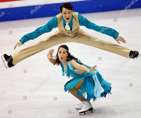 Nikki Georgiadis, Graham Hockley Nikki Georgiadis, below, and Graham Hockley, of Greece, skate during the ice dance original dance competition at the World Figure Skating Championships in Los Angeles