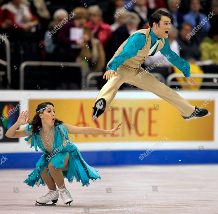 Nikki Georgiadis, Graham Hockley Nikki Georgiadis, left, and Graham Hockley of Greece, skate in the ice dance original dance competition at the World Figure Skating Championships in Los Angeles