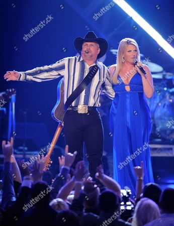 Stock Image of Garth Brooks, Tricia Yearwood Garth Brooks and Tricia Yearwood perform at the 43rd Annual Academy of Country Music Awards, in Las Vegas