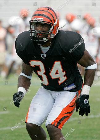 Kyries Hebert Cincinnati Bengals defensive back Kyries Hebert during practice at training camp, in Georgetown, Ky