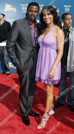 Derek Luke, Sophia Luke Derek and Sophi Luke arrive at the BET Awards on in Los Angeles