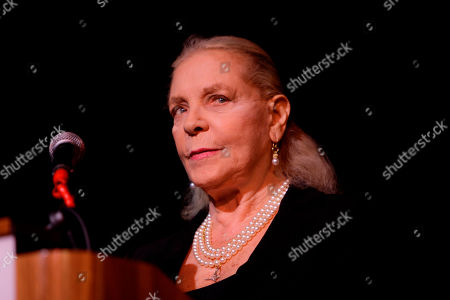 Lauren Bacall Actress Lauren Bacall during a tribute to actress Bette Davis at Boston University in Boston