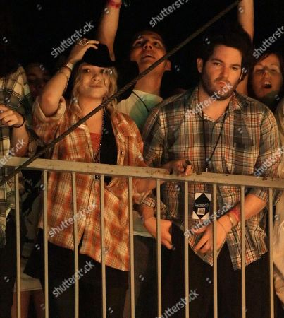 Stock Photo of Mary Kate Olson; Hayden Slater Actress Mary-Kate Olson, left, and her friend Hayden Slater, right, watch Pearl Jam perform at the Bonnaroo music festival in Manchester, Tenn