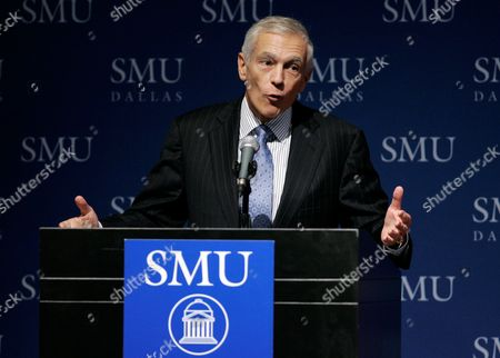 """Stock Picture of Wesley K. Clark Former Supreme Allied Commander in Europe, General Wesley K. Clark U.S. Army Ret., addresses an audience at Southern Methodist University in Dallas . General Clark spoke on the topic of """"The Future of Conflict"""": Military Roles and Mission"""