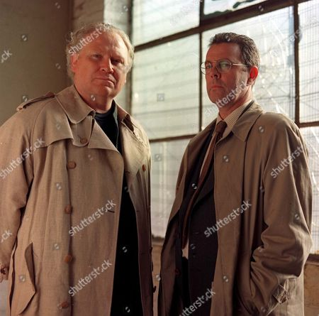 Richard Morant and Colin Baker in 'The Knock' - 1996