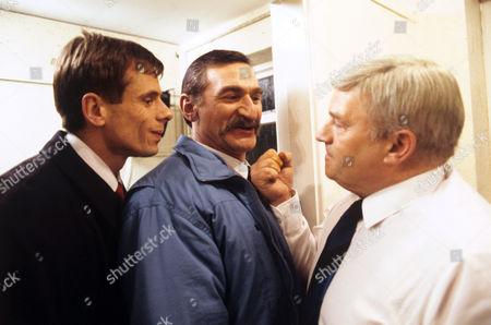 Tom Watt (left) Stanley Lebor (centre) appearing 'In The Club' - 1988