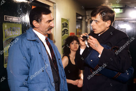 Stanley Lebor (left) and Tom Watt appearing 'In The Club' - 1988
