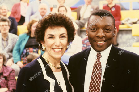 Edwina Currie and Garth Crooks in 'Sunday Supplement' - 1993