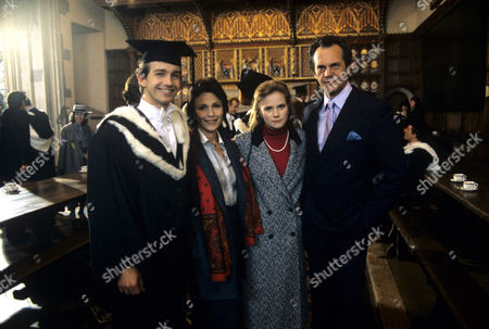 (L-R) David Phelan , Claire Bloom , Abigail Cruttenden and Daniel Massey in 'Intimate Contact' - 1987