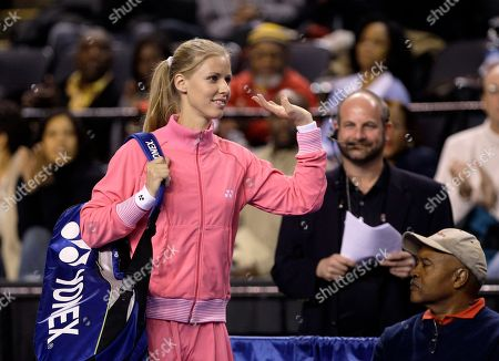 Elena Dementieva Russia's Elena Dementieva waves after being introduced before playing against Serena Williams during the Pam Shriver PNC Tennis Classic exhibition match, in Baltimore