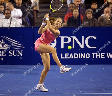 Elena Dementieva Russia's Elena Dementieva returns a shot against Serena Williams during the Pam Shriver PNC Tennis Classic exhibition match, in Baltimore